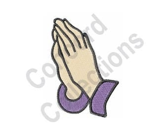Praying Hands Machine Embroidery Design