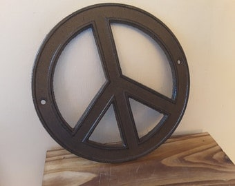 Cast iron PEACE symbol