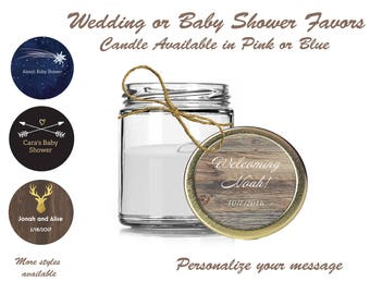 Wedding and Baby Shower Favor Candles - 8 pack (9 oz) or 12 Pack (4 0z)