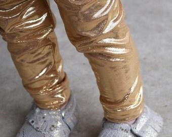Gold Sparkly Leggings for Baby, Toddler & Girls
