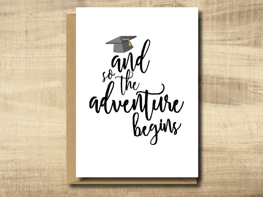 Adorable image regarding printable graduation card