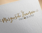 Heart Logo, Gold Photography Logo, Premade Logo, Custom Watermark, Premade Branding, Photography Logo Design