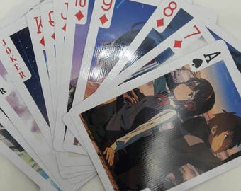 """NEW Japanese """"Your Name"""" This Year Most Popular Anime Movie Poker Playing Card Collection -52pcs set"""