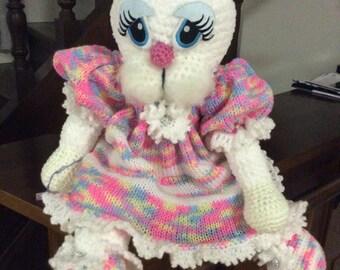 rabbit crocheted