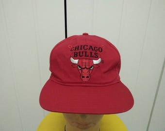 Rare Vintage CHICAGO BULLS Cap Hat Free size fit all