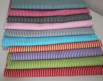 Cotton stripes 10 colors 0.50 x 1.50