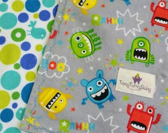 Robot Blanket, Gray Baby Blanket, Grey Baby Blanket, Robot Toddler Blanket, Robot Baby Shower Gift, Blue Baby Blanket, Oversized Swaddler