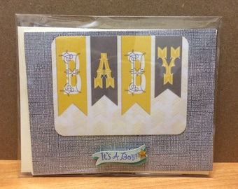 Baby Boy Handcrafted Card