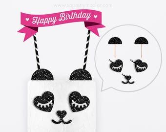 Panda Party Decorations, Panda Birthday Decorations, Panda Party, Panda Party Decor, Panda Birthday Party, Panda Cake, Panda Cake Topper