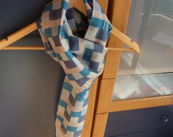 France hand woven silk and cotton man scarf