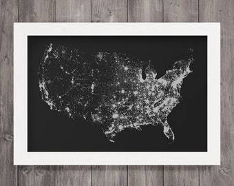 U.S. Night Sky Screen Print