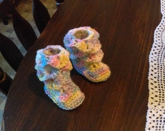 Infant Dragon scale booties