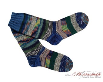Handknitted socks size 40-41 unique! hand-knitted socks hand-knitted wool socks
