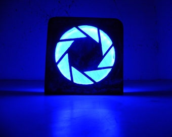 Portal logo night lamp