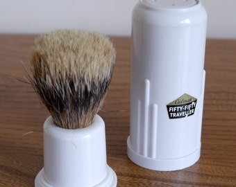 Culmak Fifty-Fifty Traveller badger and bristle shaving brush, 50-50