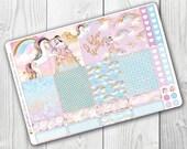 Unicorn Princess Full Box , Planner Stickers, Erin Condren Vertical, ECLP