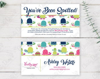 Thirty One - You've Been Spotted Card - Topsy Turtles (template)