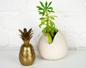 Very Small Brass Pineapple Box