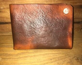 "Handmade distressed wallet- ""The Waddie"""