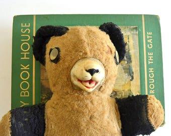 vintage panda bear stuffed teddy bear toy bear old teddy bear collectible bear