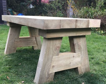 Wooden Garden Sleeper Table