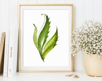 Plant Decor, Nature Wall Art, Plant Artwork, Botanical Posters, Botanical Art Print, Bedroom Art, Outdoors Printable, Watercolor Plants