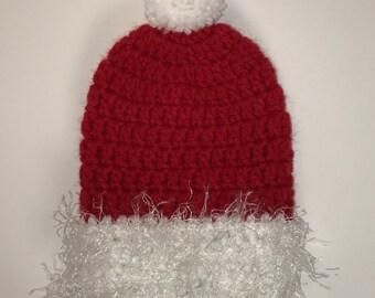 Santa Hat = Cast Sock = Ready to ship.
