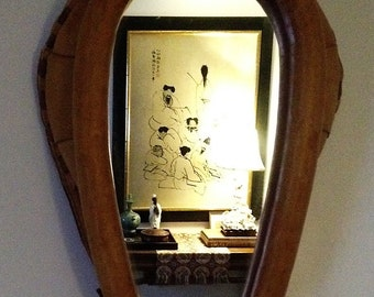 Vintage Leather Horse Yoke Collar Mirror