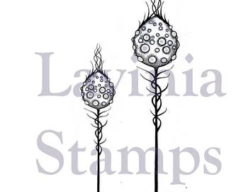 Lavinia Moon Pods Stamp - Moon Pod Stamp - Silhouette Cling Stamp - Moon Pods Stamp Set - Fairy background stamp - Pod Flower Cling - 12-093