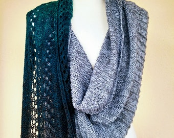 Cloth/stole/scarf hand knitted. Design Kreatinabluhm
