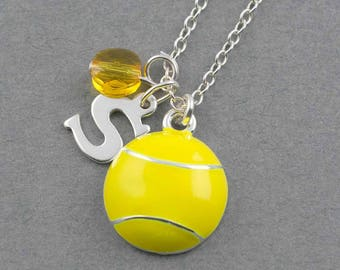 Yellow tennis ball charm, personalized