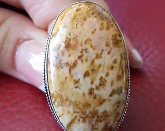 Jasper Gemstone Ring- size 8.75!