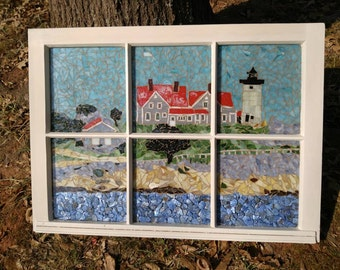 Nobska Lighthouse Mosaic Window