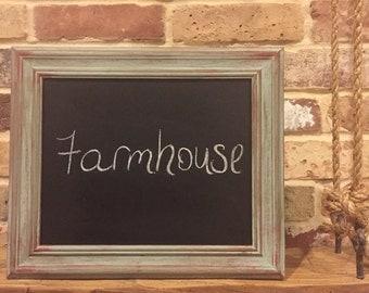 Chalkboard frame vintage repurpose Farmhouse