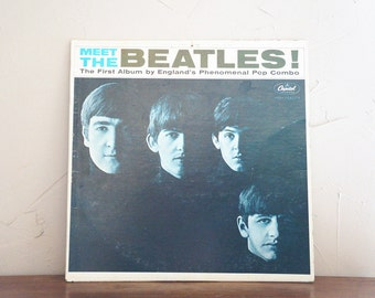 1964 Meet The Beatles LP Record Vintage Music 1960S T2047