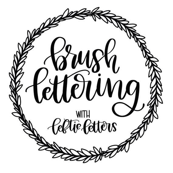 Brush Lettering Worksheets Learn Brush Lettering
