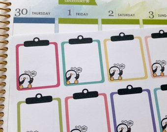 Don't forget stickers, full box stickers, planner stickers, clipboard stickers, penguin stickers for Erin Condren, Happy Planner, TN