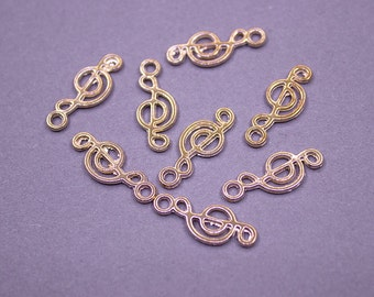 BULK 50 pcs Treble Clef Charms Gold Tone - Gold Treble Clef Charms, Treble Clef Pendant, Music Note Charms, Gold Music Note, Treble G