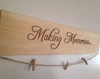Making Memories Wood Photo Sign