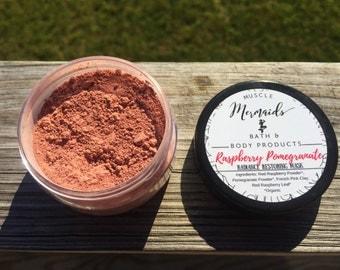 Raspberry Pomegranate Radiance Restoring Facial Mask - Superfood Skincare - 2 or 4 oz