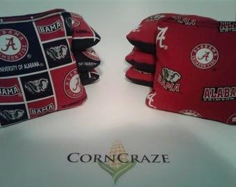 Alabama Crimson Tide Cornhole Bags Set of 8 ACA Regulation