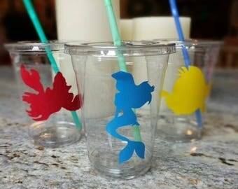Little Mermaid party cups with lid