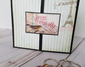 Spread Your Wings & Fly handmade scrapbook album