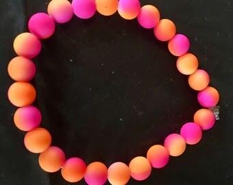 Neon Beaded Bracelet