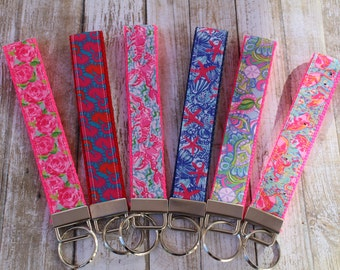 Personalized Key Fobs - Custom Key Chain Wristlets - Personalized Key Chains - Nautical Key Fob - Nautical Sorority Gift - Sorority Gifts