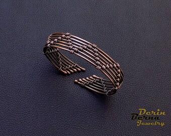 Men copper cuff bracelet,Copper Men Bracelet,Women upper arm Bracelet,Men accessories,Viking Bangle Bracelet,Men Cuff Bracelet,Free Shipping