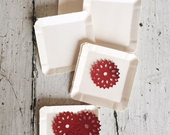 Set of 15 Vintage Old Stock Paper Butter Pats - Mixed Media - Collage - Papercrafting
