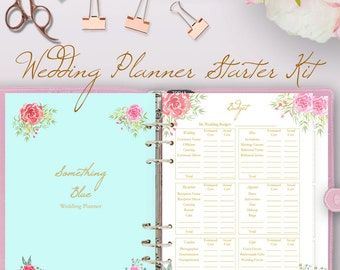Wedding planner book, wedding planning book, planner printable, planning binder printables, checklist plan, letter size, instant download