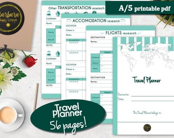 SAVE 25% USE CODE - Printable Travel Planner, Vacation Planner, Travel Planner, Travel Itinerary, Travel Printable, Vacation Planner