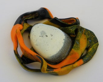 """MATHILDE 2"" polymer clay brooch"